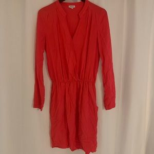 Splendid Coral Long Sleeve Dress
